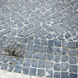 Cobblestones - lots of these around