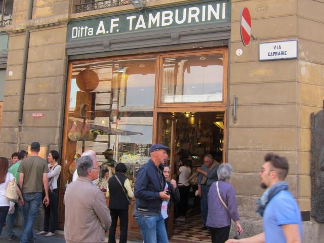 Outside Tamburini