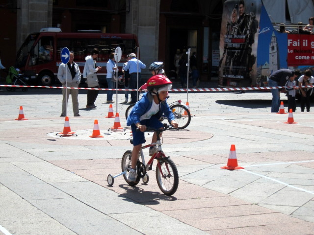 Kiddie course for bicycles