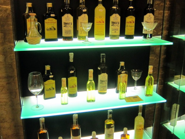 Would you believe that in the gift shop you can buy - Santo Stefano grappa and limoncello? Not missing a chance here