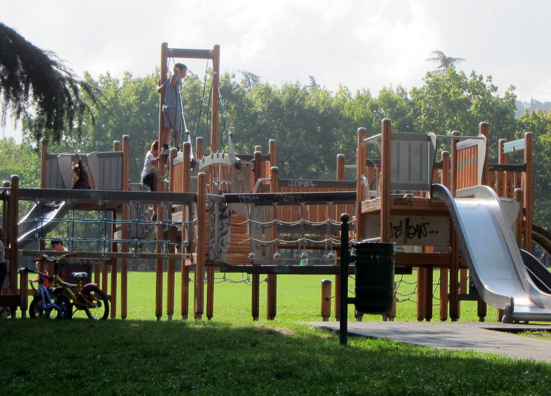 Lots of stuff for kids in the park. A great play structure.