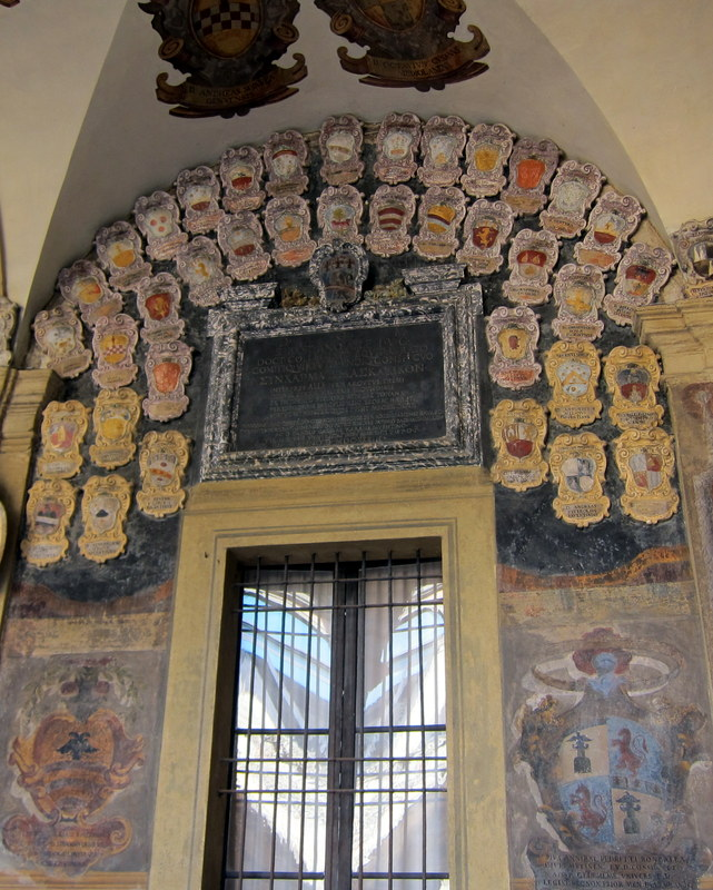 Coats of arms of some of the students in the early days of Bologna U.