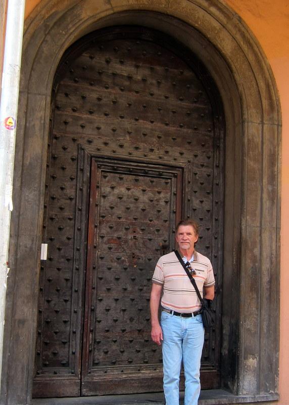 BIG old door.