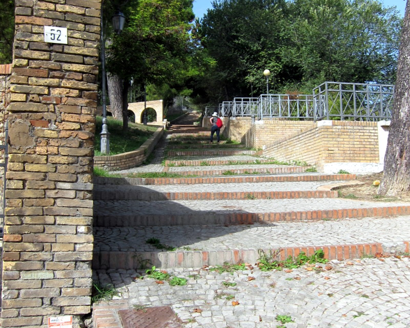 Stairs to the upper (and older) town of Giulianova