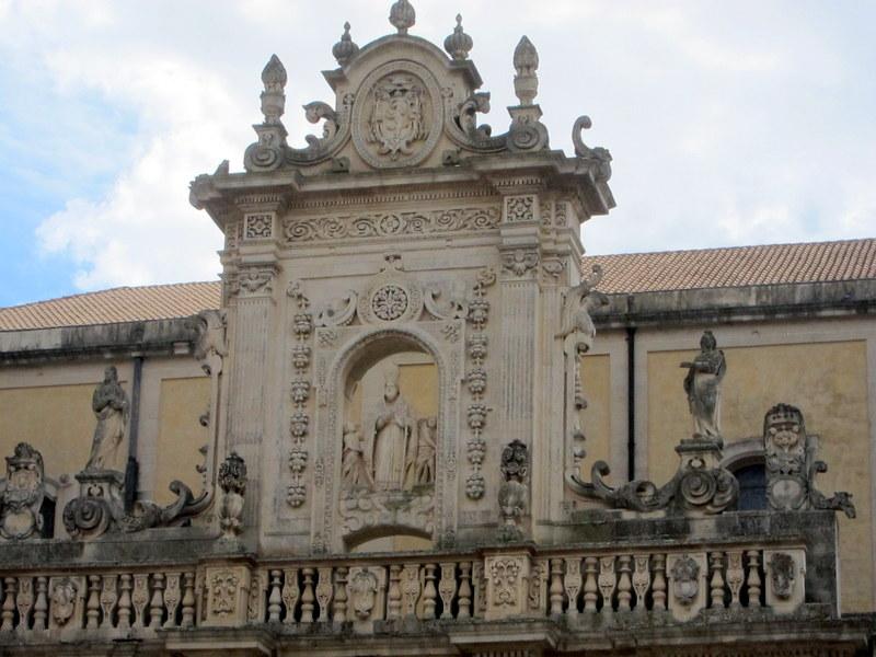 Detail of Lecce duomo facade