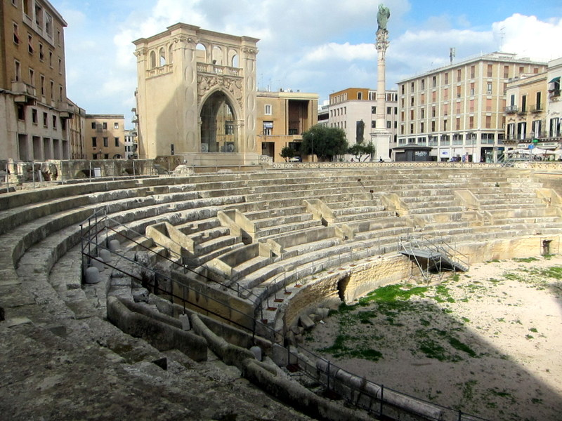 The roman amphitheater not far away from the duomo