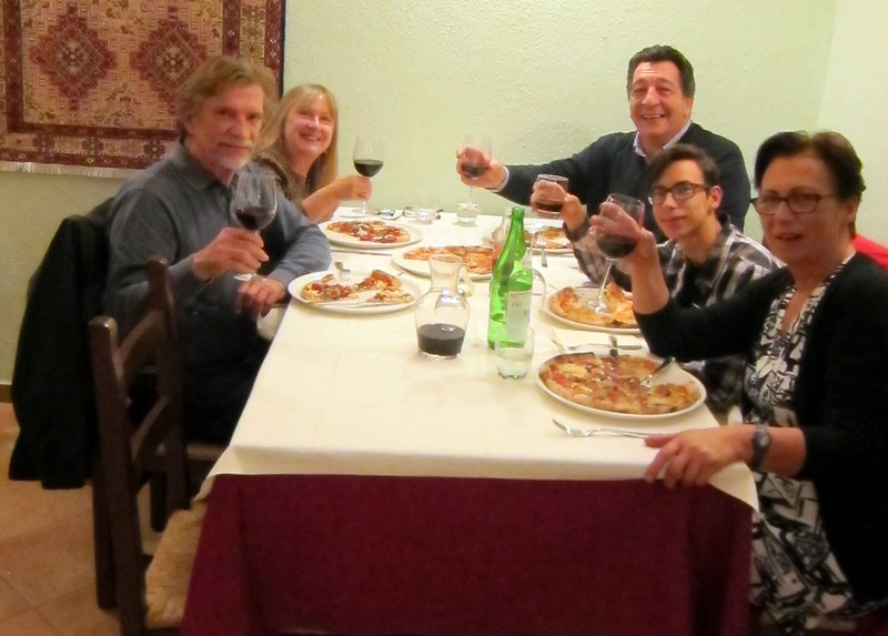 Pizza with  Omero, Massimiliano and Antonella
