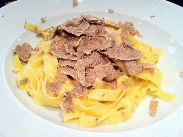 Pasta with white truffles