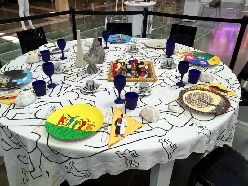 Table setting in the Biblioteca