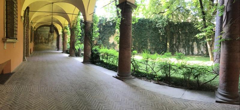 The garden in front