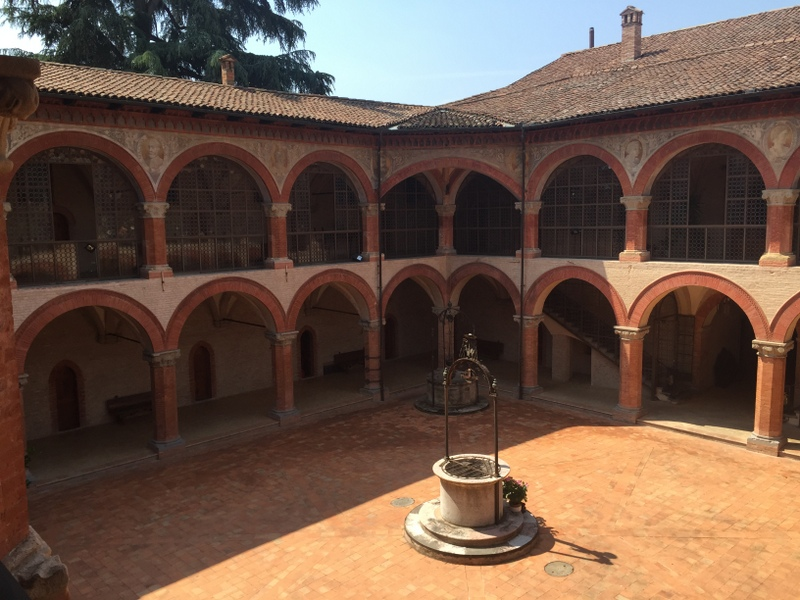 View of the courtyard from the upper level