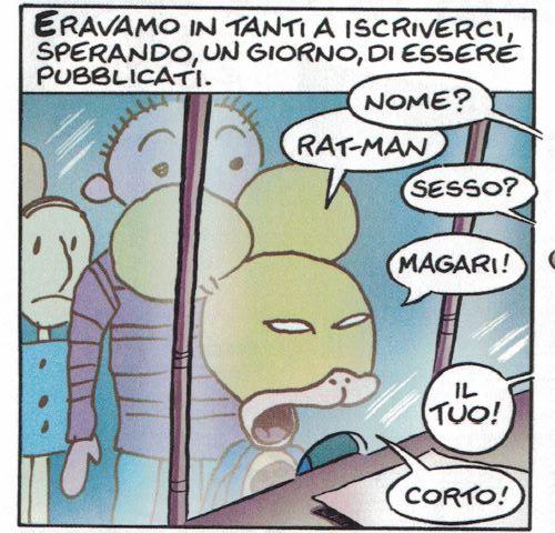 Ratman enrolls in cartooning school