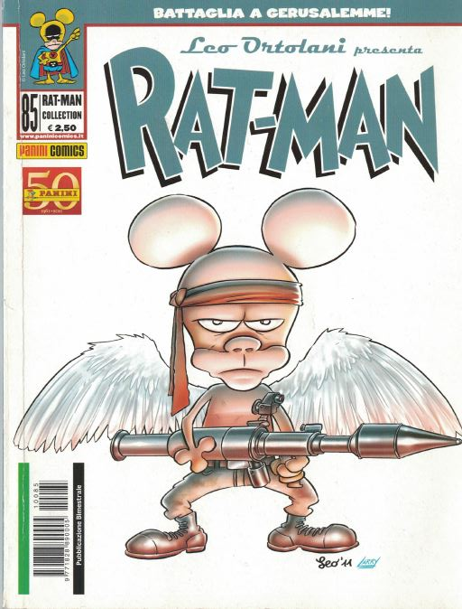 Ratman as Rambo (with angel wings?!)