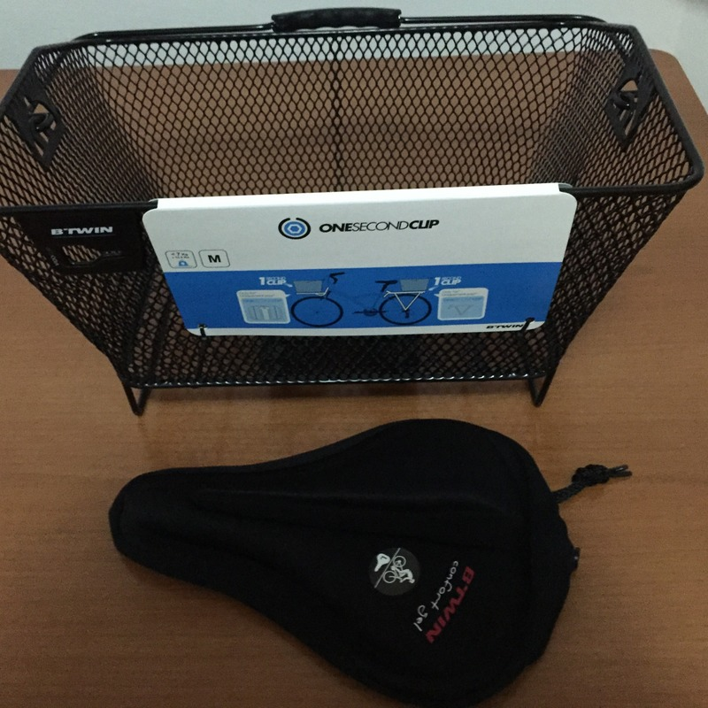 The basket and seat cushion that I bought