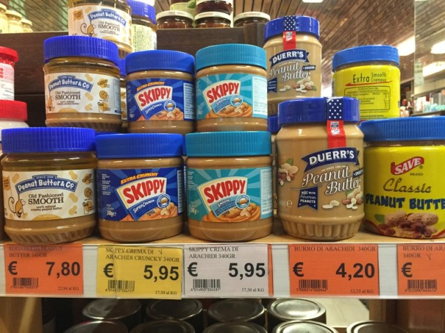 Also peanut butter has arrived in Bologna