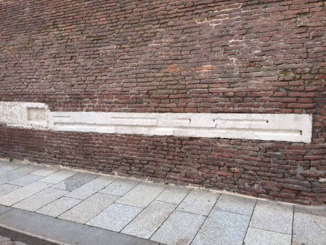 Measurement for the old market on the wall