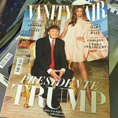 Magazine cover at dental office - Italian Vanity Fair