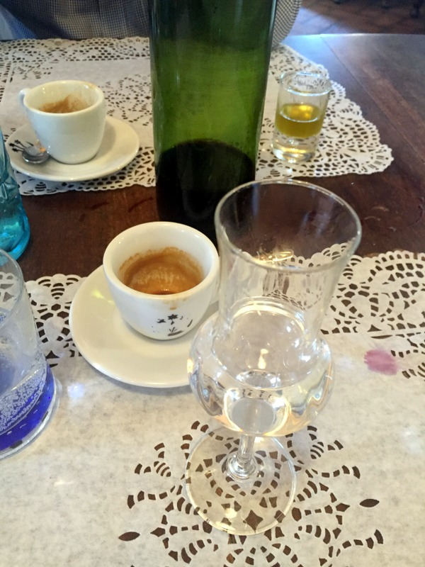 coffee and grappa