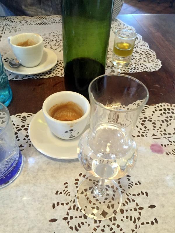 coffee and grappa