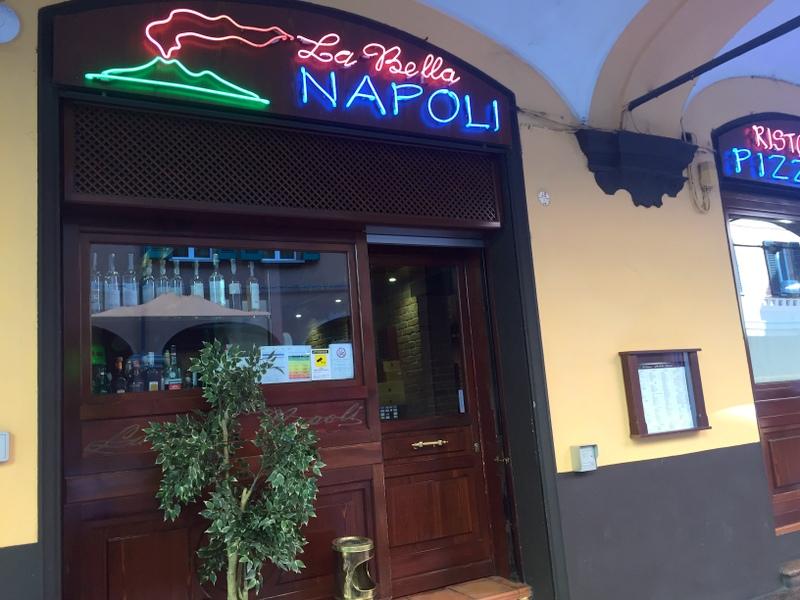 Great pizza at Bella Napoli