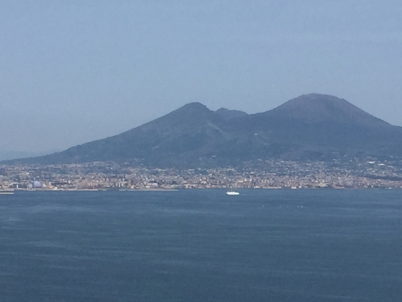 Gulf of Napoli with Vesuvius - from tour bus