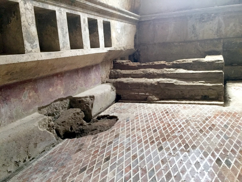 Pompeii mosaic floor that was still there