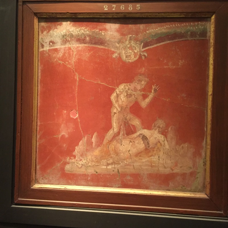 Another Pompeii mosaic in museum
