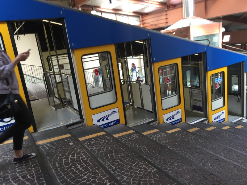 The funicular that we took