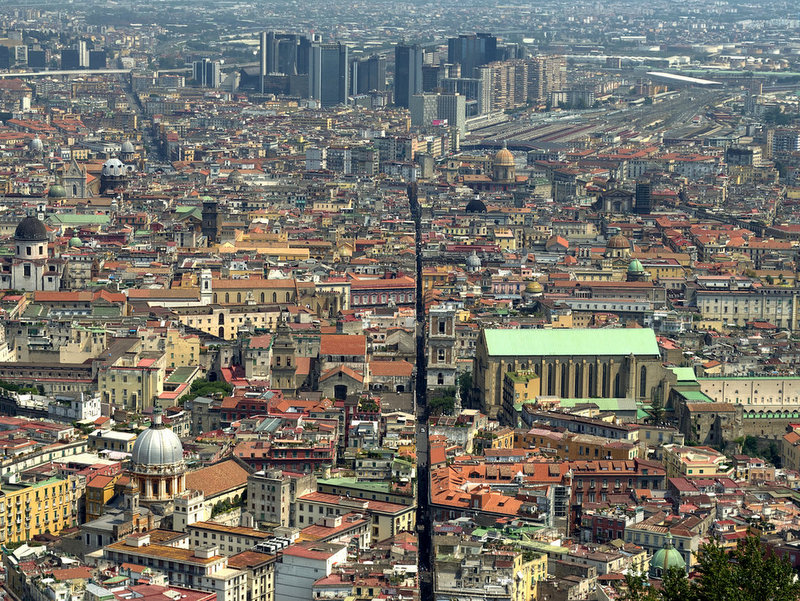 Spaccanapoli from a hillside