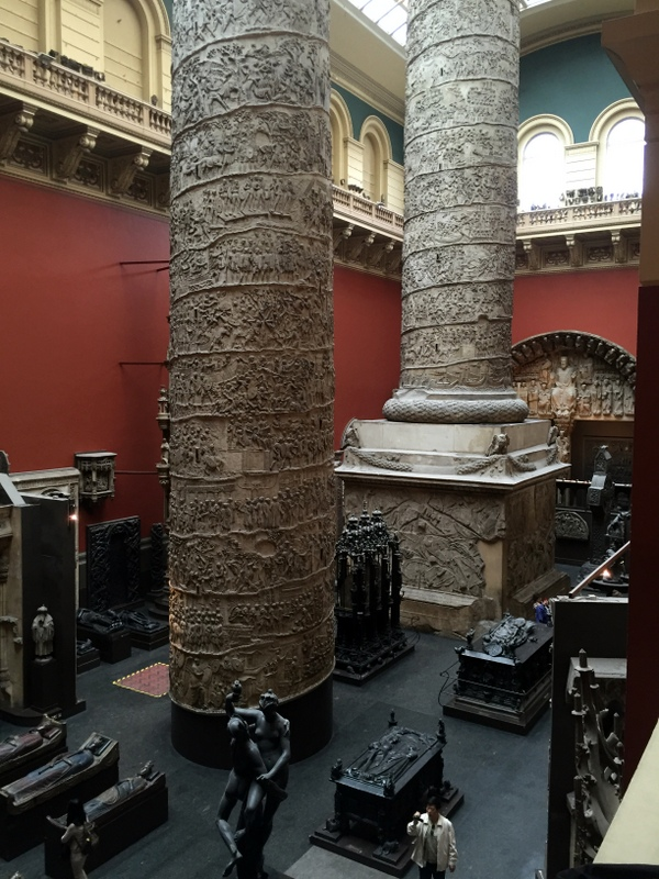 An antiquities room at the Victoria and Albert Museu,
