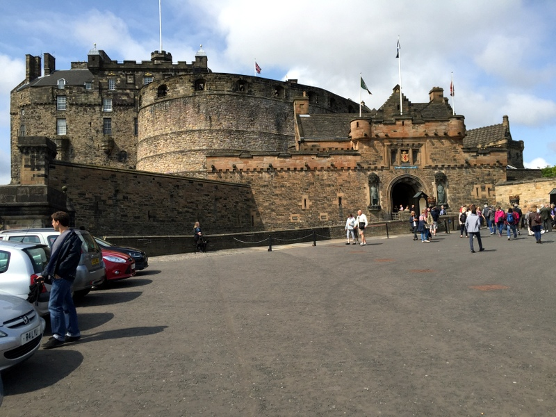 The very impressive Edinburgh castle