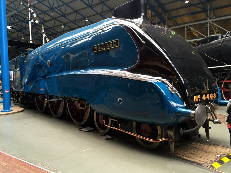 The Mallard holds the worlds record (established in 1938) for a steam engine. It's quite a beast